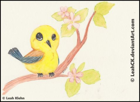 Prothonotary Warbler by LeahCK
