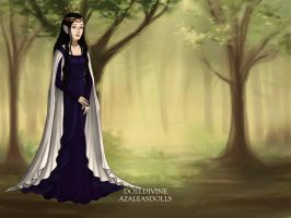 LotR OC: Aleia formal gown by HetaliaPossessed