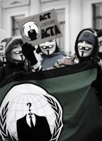 Anonymous - StopACTA Protest Vienna by Adnigcx
