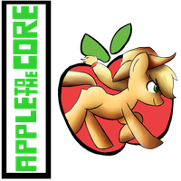 Apple Core by Lyres-art