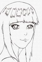 Hinata Line Art by stickypenguin