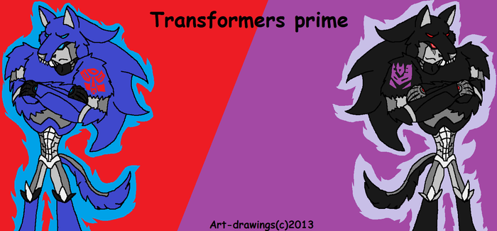 Transformers prime wolf blue and wolf black new by hlaquitia17