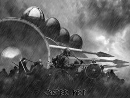 Viking attack mix by thecasperart
