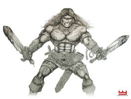 Conan the Barbarian by PaperCutIllustration