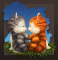 Kittens in Love... Part2 by EldarZakirov