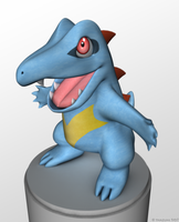 Totodile 3D by thazumi