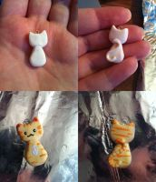 Kitty Cat charm by CemeteryDrive87