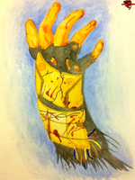 Dead Space Hand in watercolors by lionessgirl2007