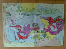 Snivy Quest HandDrawn Poster by blase005