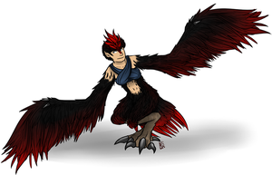 Red Feathers are the Best Feathers by andalsopineapples