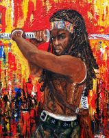 Forever Michonne by amoxes