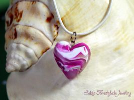 Heart necklace candy love by Sakiyo-chan