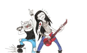 Finn and Marceline by Agent-Eli