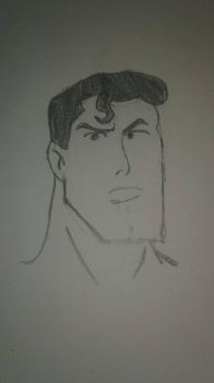 Superman Sketch  by LizzLioness