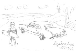 Amy Mizuno and her Buick Riviera by stephdumas