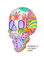 Colorful Skull I by jack22