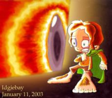 Frodo n the Eye of Sauron by idgiebay
