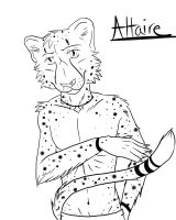 Altaire the Cheetah lineart by RaziiraoftheDesert