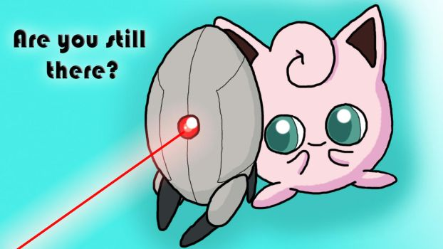 Jigglypuff and Turret by TehJimlad