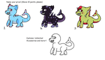 Shark Doggie Adopts (ALL OPEN+CUSTOMS) by raptorbutts-adopts