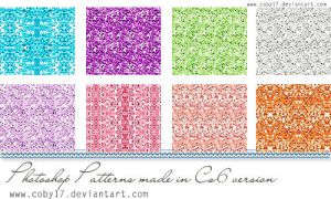 Glitters in colors patterns by Coby17
