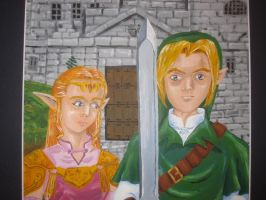 Hyrule Gothic (close-up) by recycledrapunzel
