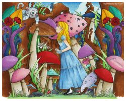 coloring.. alice in wonderland by lady-midnight27