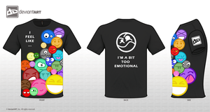 Emotional Smiley by T-Shirt-Artist