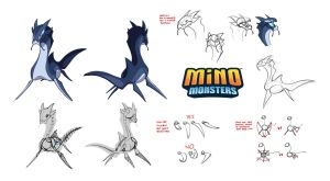 MinoMonsters Water Guardian by hellcorpceo