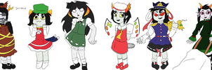 TOUHOMESTUCK girls by o0koneko-chan0o