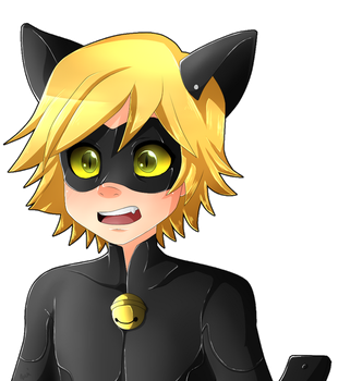 Chat Noir surprised by oce-sky62