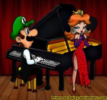 Luigi and Daisy - Love sonata by Princesa-Daisy