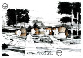 Dodecahedron camping assembly2 by dedeyutza