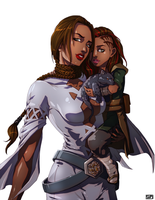 Marrika and Natasi Vernius by MandoGirl22
