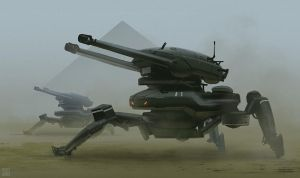 Defense Turrets - Speed Paint VIDEO real time by Hideyoshi