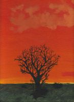 Sunset Tree by Ms-Catastrophie