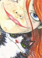 ACEO - Ready For Our Close Up by KootiesMom