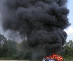 car fire by ItsAllStock