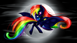 Nightmare Rainbow Dash by Liquoricelixlixlix