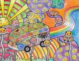 Hippie Van Goes To LaLa Land by Liquid-Mushroom