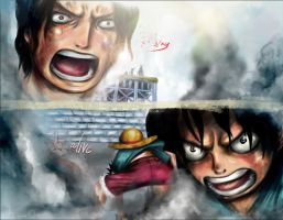 luffy and ace- stay alive by w-0-w