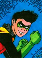 Sketchcard Robin by RichBernatovech