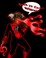 Red Lantern - Col. Stinkmeaner by What-the-Gaff
