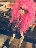 OOAK Monster High Cotton Candy by astronautcutie