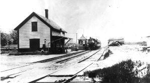 Boston And Maine Depot At Short Falls, 1905. by trollmongo