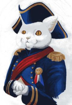Commodore Meowington/Admiral Whiskers/General Paws by TottyRen