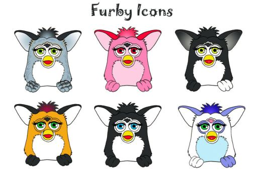 Customized Furby Icons by LuthienNightwolf