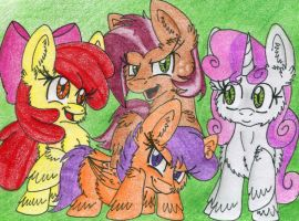 The Cutie Mark Crusaders by Mario-Wolfe