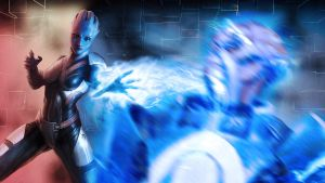 Liara vs Blue Suns by Stealthero