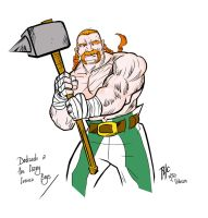 Obelix Redesign - Colors - Celtic variant by rubioric